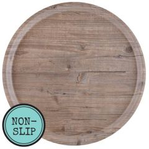 "Puro Vintage Non-Slip Round Tray 14"" / 36cm"
