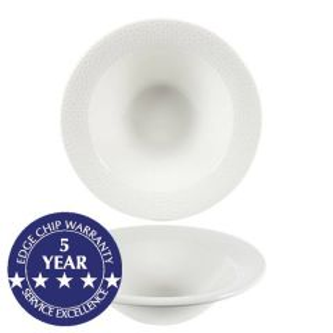 "Churchill Isla White Oatmeal Bowl 6.625"" / 17cm"