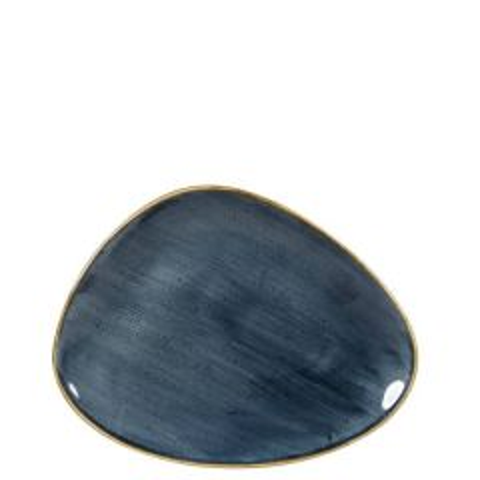 "Churchill Stonecast Blueberry Chefs' Triangle Plate 10.375x8"" / 26.5x20.5cm"