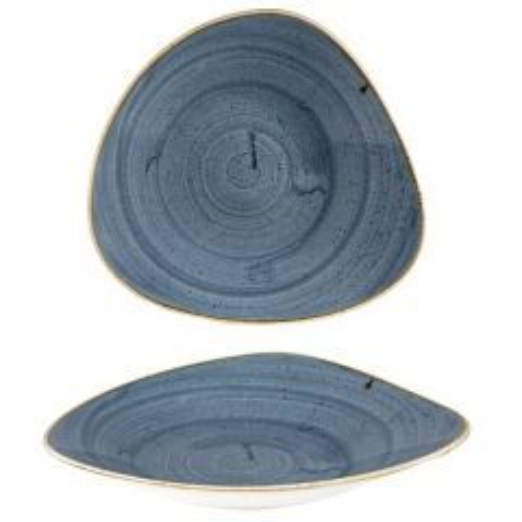 "Churchill Stonecast Blueberry Triangle Shallow Bowl 10.75x10.5"" / 27.2x26.7cm"