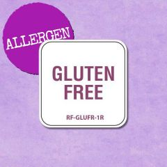"Removable Allergen Gluten Free Labels 1"" / 2.5cm"