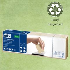 """Tork N4 Xpressnap """"Please Take Only One"""" Natural '100% Recycled' Printed Napkin 2ply 21.6x33cm"""