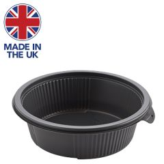 Hot Deli Deluxe Grey PP Microwaveable Round Bowl 190 x 57mm, 1000ml