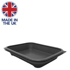 Hot Deli Deluxe Grey Microwaveable PP Takeaway Container 650ml