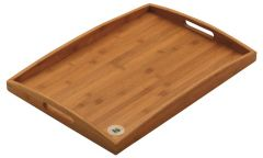 """Bamboo Wood Finish, Handled Butlers Tray 23x16"""" / 58x40cm"""