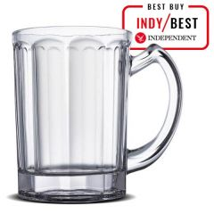 The Lantern 10-Sided Pint Glass Tankard Nucleated CE 20oz / 57cl