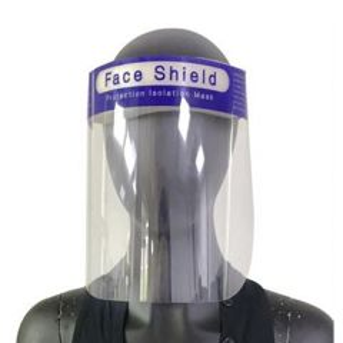 Reusable PVC Face Shield / Visor with Foam Headband