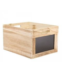 Vintage Wooden Crate (Flat Packed) With 2 Chalk Boards