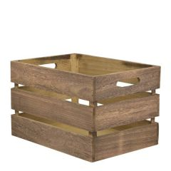 """Vintage Wooden Storage Crate (Flat Packed) 13x8.3x9.4"""" / 33x21x24cm"""