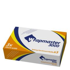 """Wrapmaster 3000 Baking Parchment Refill Roll 12"""" / 30cm x 50m"""