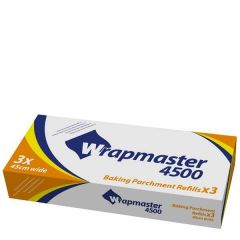 """Wrapmaster 4500 Baking Parchment Refill Roll 18"""" / 45cm x 50m"""