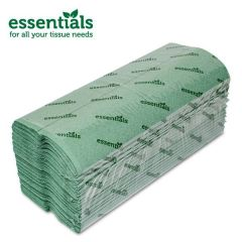 Essentials Green C-Fold Hand Towel 1ply