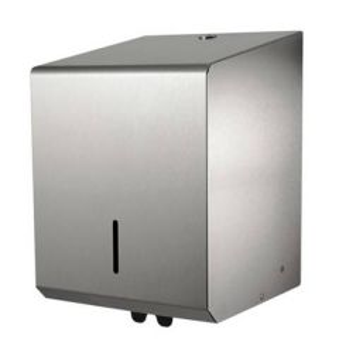 Matt Brushed Steel Dispenser for Centre Feed Roll