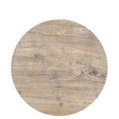 """Roltex Polyester Core Round S-Plank Serving Platter Vintage Wood Effect 12"""" / 30cm"""