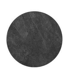 """Roltex Polyester Core Round S-Plank Serving Platter Slate Effect 12"""" / 30cm"""