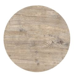 """Roltex Polyester Core Round S-Plank Serving Platter Vintage Wood Effect 15"""" / 38cm"""