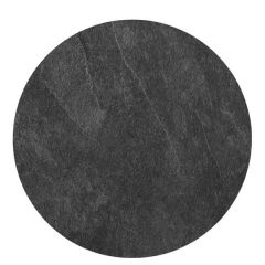 """Roltex Polyester Core Round S-Plank Serving Platter Slate Effect 15"""" / 38cm"""