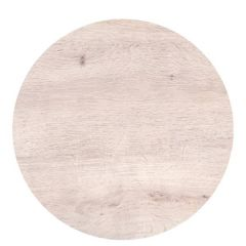 "Roltex Polyester Core Round S-Plank Serving Platter Oak Effect 15"" / 38cm"