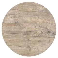 """Roltex Polyester Core Round S-Plank Serving Platter Vintage Wood Effect 16"""" / 40cm"""