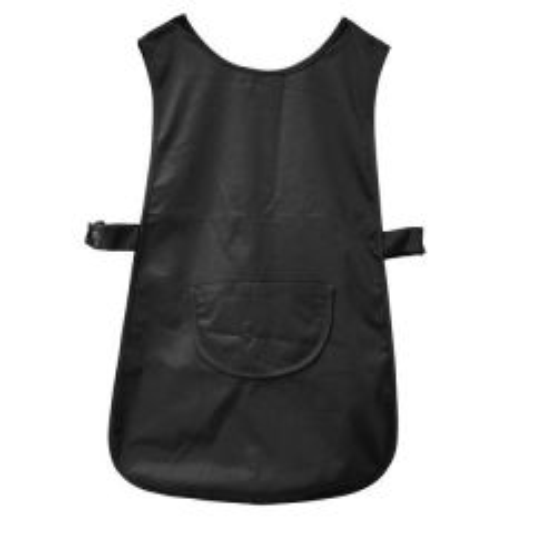 Black Tabard Slide Press Stud Fastening & Large Curved Centre Pocket Medium