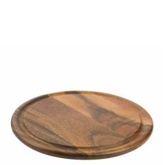 Acacia Round Board with Groove 29.4cm