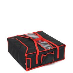 """Heated Delivery Takeaway Cater Bag (4 x 17"""" Pizza) 47x47x21cm"""