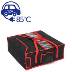 "Heated Delivery Takeaway Cater Bag (4 x 17"" Pizza) 47x47x21cm"