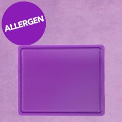 "Purple Allergen 1/2 Gastro High Density Chopping Board 12.6x10.2x0.5"" / 32x26x1.2cm"