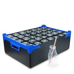 35 Compartment Black Glass Storage Container 510x350x250mm (Internal H225mm)
