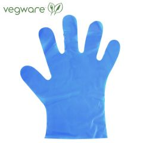 Vegware Compostable Blue Food Prep Gloves Medium