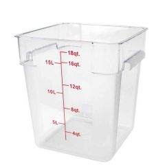 Polypropylene Large Square Food Storage Container 17 Litre