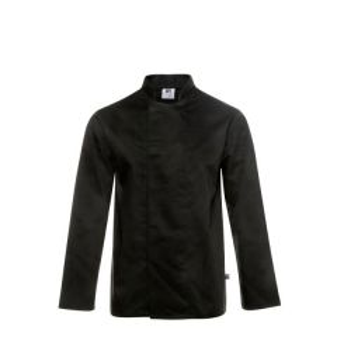 "Coolmax Black Long Sleeved Chefs Stud Jacket 32-34"" XS"
