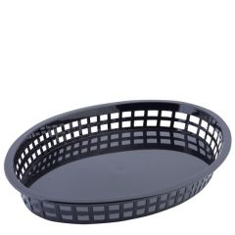 "Oval Black Texas Platter Basket 12.75x9.5x1.5"""
