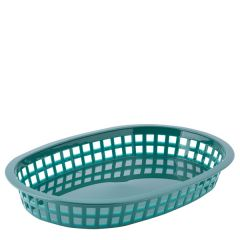 Forest Green Oval Chicago Plastic Food Basket 27x18x4cm
