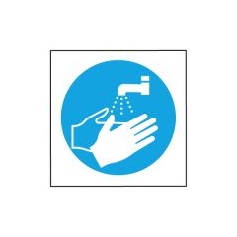Now Wash your Hands Symbol Sticker
