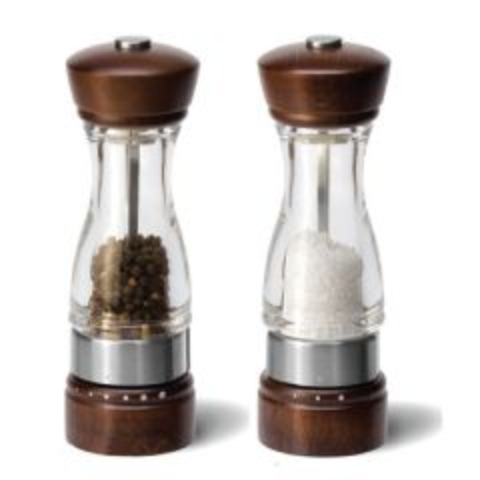 "Cole & Mason Keswick Acrylic & Wood Pepper Mill 7"" / 17.5cm"