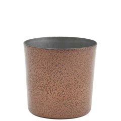 "Hammered Copper Finished Stainless Steel Serving Cup 3.3"" /8.5cm 14.8oz/42cl"