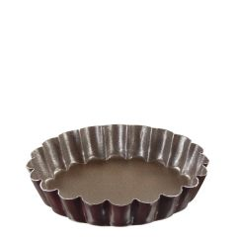"Non-Stick, Round, Fluted Mini Tart Mould 4x0.4"" / 100x10mm"