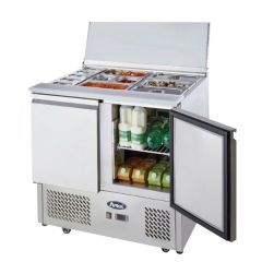 Ice-A-Cool Two Door Sliding Lid Saladette 900x700x905mm