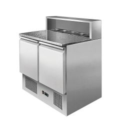 Ice-A-Cool Two Door Pizza Prep Saladette Marble Top 900x700x1100mm