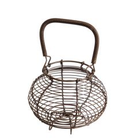 "Old Iron Egg Basket 5.5"" / 14cm"