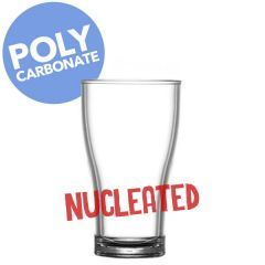 Reusable Polycarbonate Nucleated Viking Half Pint Glass CE to Brim 10oz / 28cl