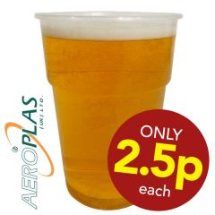 **Special Purchase** Aeroplas Disposable PP Pint Glass CE to Line 24oz / 68cl