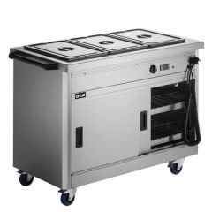 Lincat Panther 670 Series Hot Cupboard With Bain Marie Top 2.8kW 1205x672x912mm