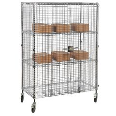 Eclipse Chrome Wire Mobile Security Cage 3 Shelf 1220x460x1770mm