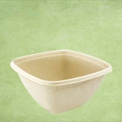 Sabert Compostable BePulp Square Deep Container 500ml 130x130x60mm