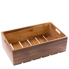 Acacia Wood 1/1 Gastronorm Sized Crate 530 x 325 x 160mm