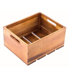 Acacia Wood Serving / Display Crate 1/2 Size GN 16cm High