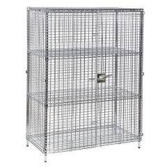 Eclipse Chrome Wire Static Security Cage 3 Shelf 1220x460x1625mm