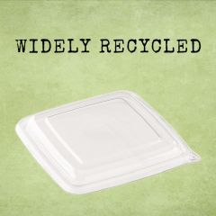 Sabert rPET Clear Lid 23x23cm (for BePulp Square Trays)